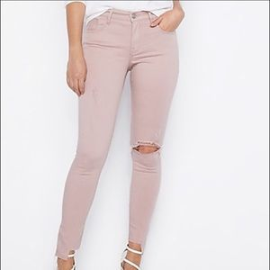 Express Ankle Leg Mid Rise Stretch Super Soft Jean